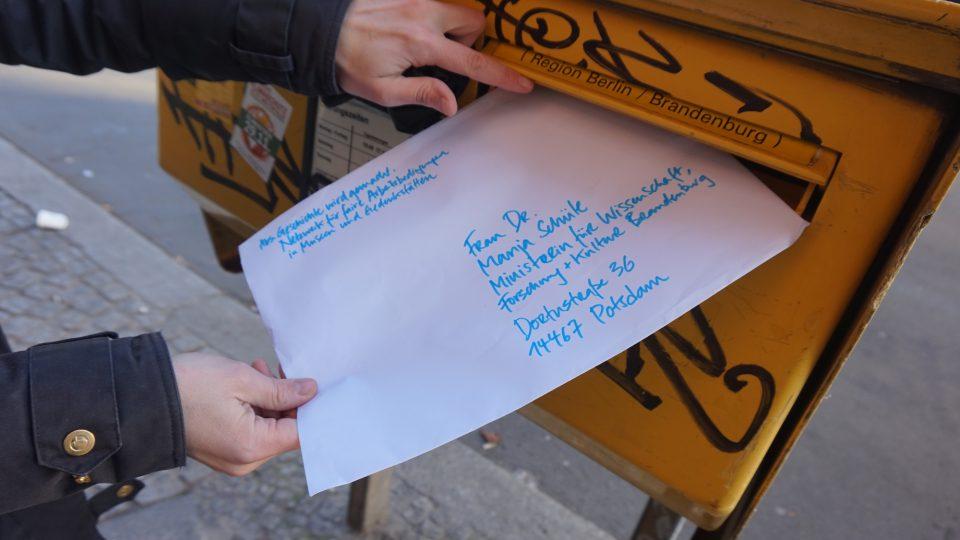 Geschichte wird gemacht: Offener Brief auf dem Weg nach Potsdam